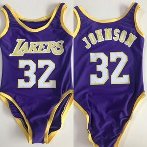 Swim - MAGIC JOHNSON LAKERS BODYSUIT